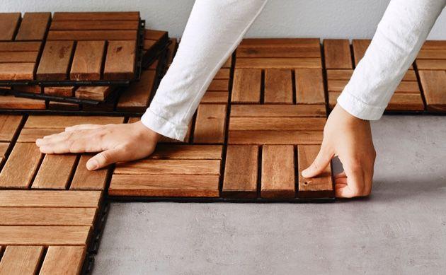 Holzfliesen Fur Balkon Gunstig Online Kaufen Ikea Our Apartment
