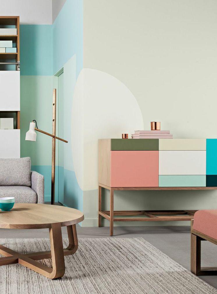 blanc, bleu, rose, vert, beige, gris, bois, cuivre Interieurs
