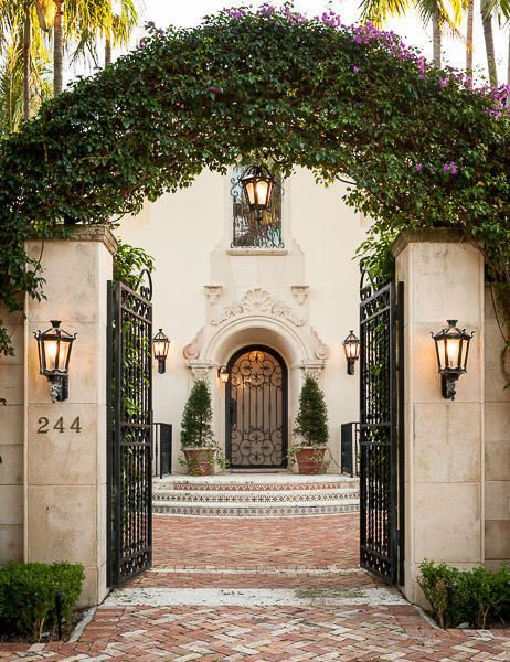 Gorgeous Entry Gate And Front Door Lanterns Etc Spanish Style Pinterest Palm