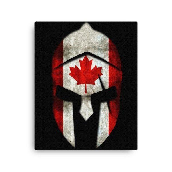 Canadian Flag SPARTAN Helmet Canvas