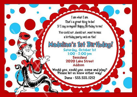 Dr seuss cat in the hat birthday invitation by photodesignz dr seuss cat in the hat birthday invitation by photodesignz 1000 stopboris Image collections
