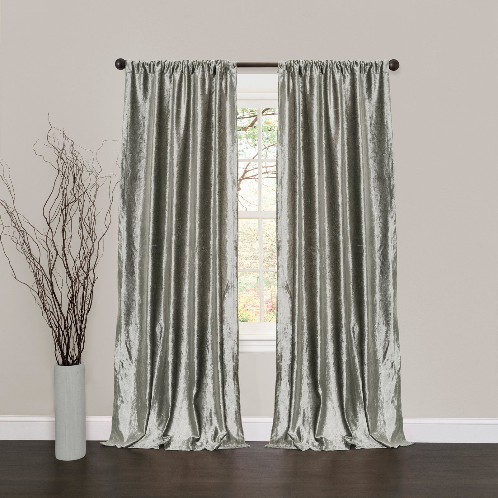 Lush Decor Velvet Dream Window Curtain Set - C11645Q13