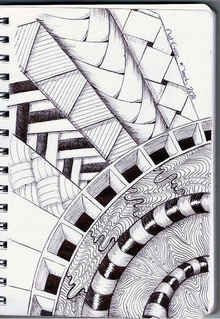 how to create a zentangle