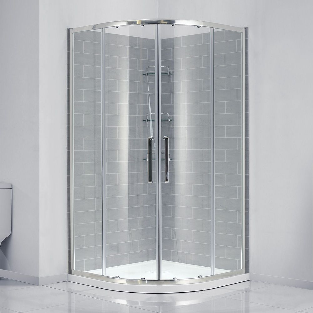 34 X 34 Shower Kit With Door Walls Base And Glass Shelves