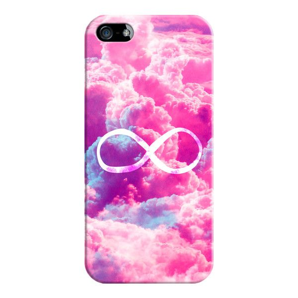 Girly Infinity Symbol Bright Pink Clouds Sky Iphone 7 Case Iphone