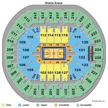 oracle arena seating chart concert