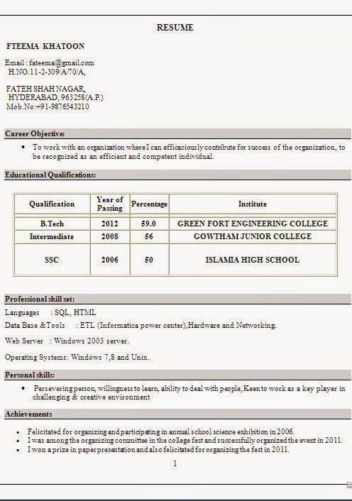 examples of good resume Sample Template Example ofExcellent - generic resume objective