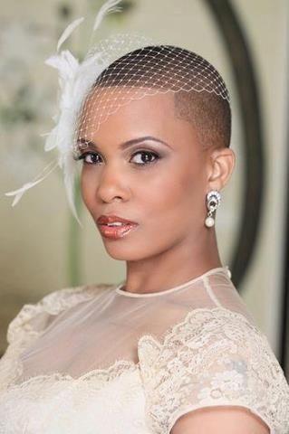 Bald Bride Short Bridal Hair Natural Hair Bride Short Wedding Hair