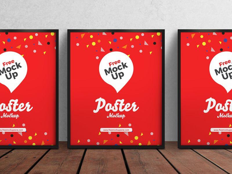 Free 3 Psd Posters Mockup Poster Mockup Free Mockup Free