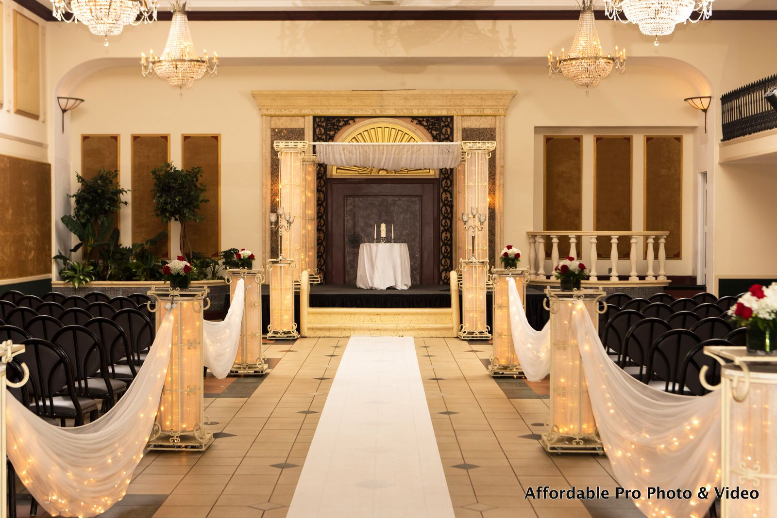 Ceremony area at The Signature Grand in Davie, FL