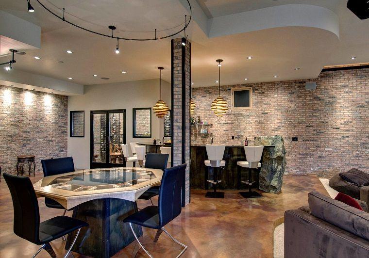 Come arredare una taverna bar zona pranzo taverna moderna
