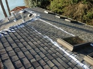 How To Apply Zinc To A Shingle Roof Today We Are Showing How To Apply Zinc To A Composite Roof That Has Moss Growth Roof Shingles Shingling Cleaning Gutters