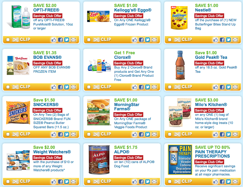 Coupons Com Savings Club Current Coupons And Review Update Free Printable Grocery Coupons Free Printable Coupons Food Coupons Printable