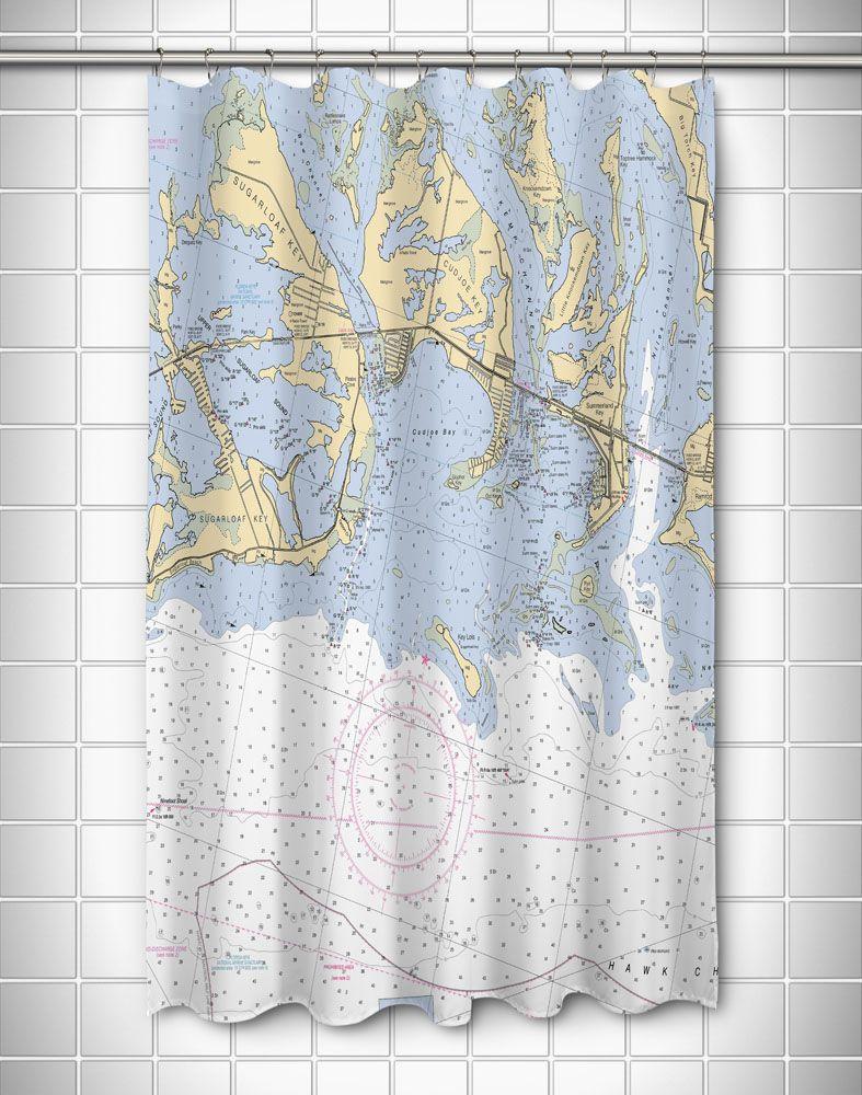 Fl Sugarloaf Cudjoe Summerland Keys Fl Nautical Chart Shower