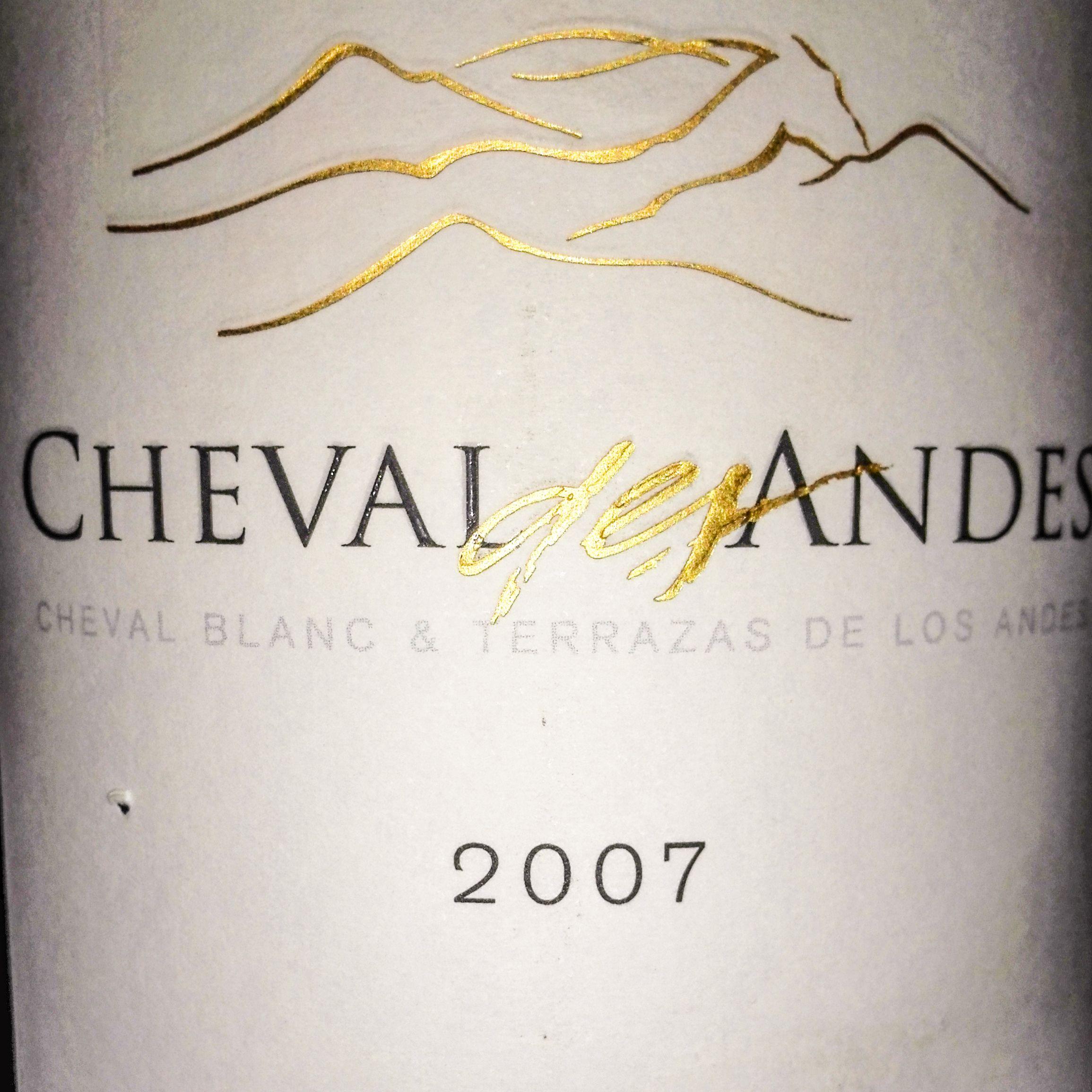 Cheval Des Andes 2007 Cheval Blanc Terrazas De Los Andes