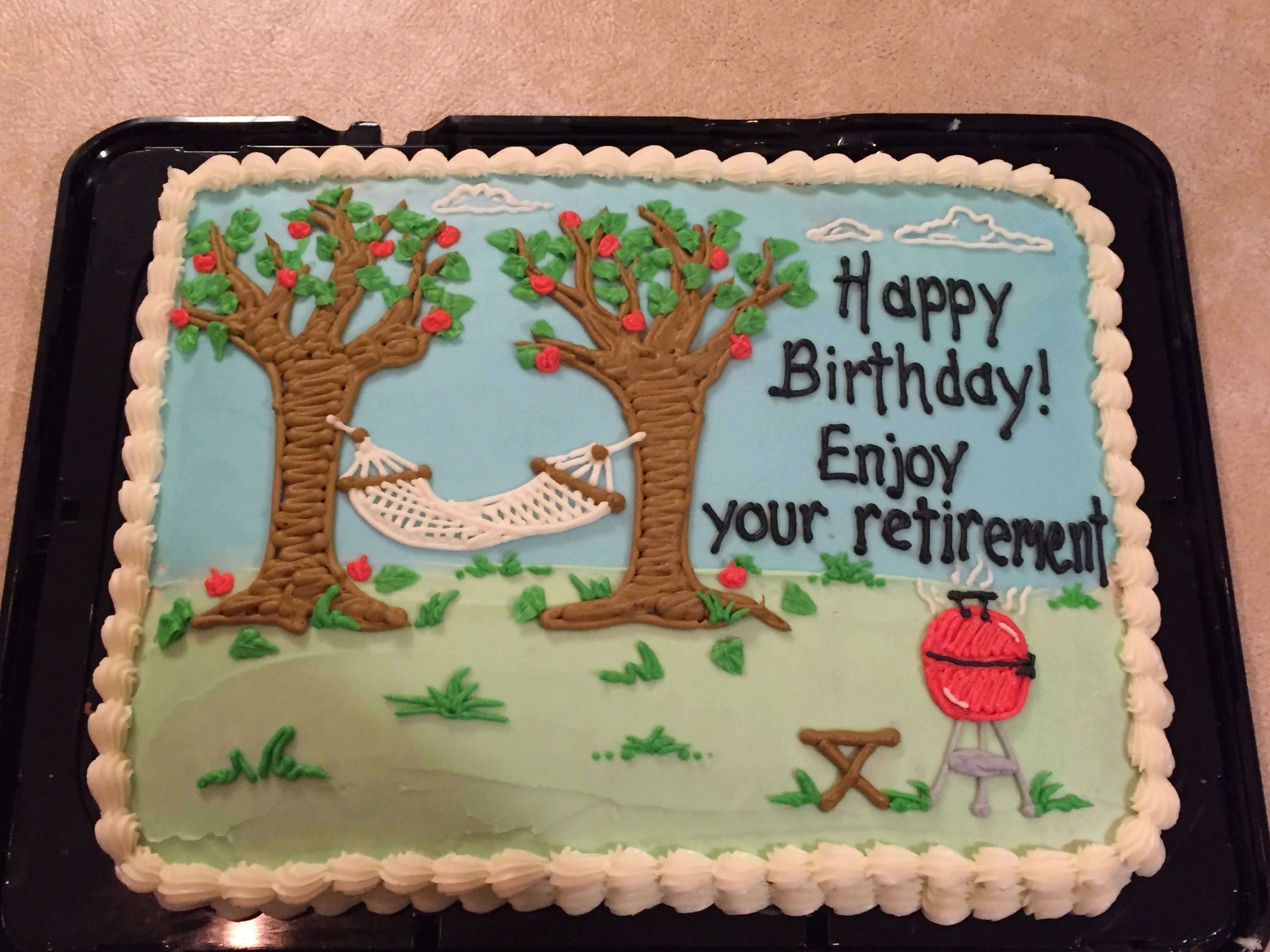 Dads Birthday And Retirement Cake