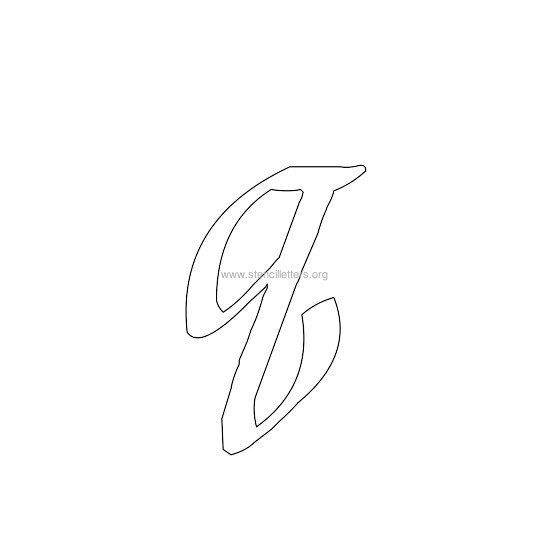 Lowercase Calligraphy Wall Stencil Letter O