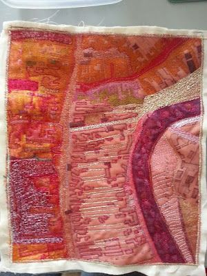 Textile Map of Kendal map art quilt by Sula Mazorah Hancock