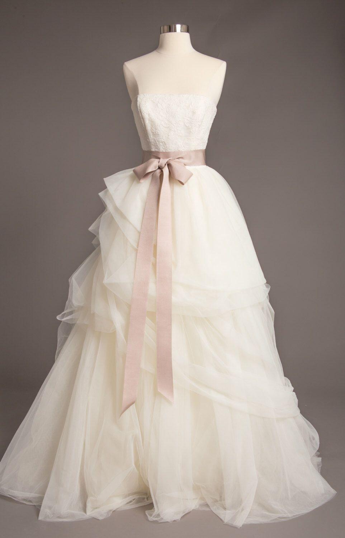 Soft Taupe Wedding Sash - 2\
