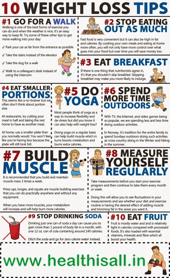 10 steps to reduce weight