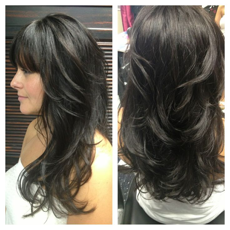 Long Hair With Lots Of Layers And Side Bangs Google Search Love