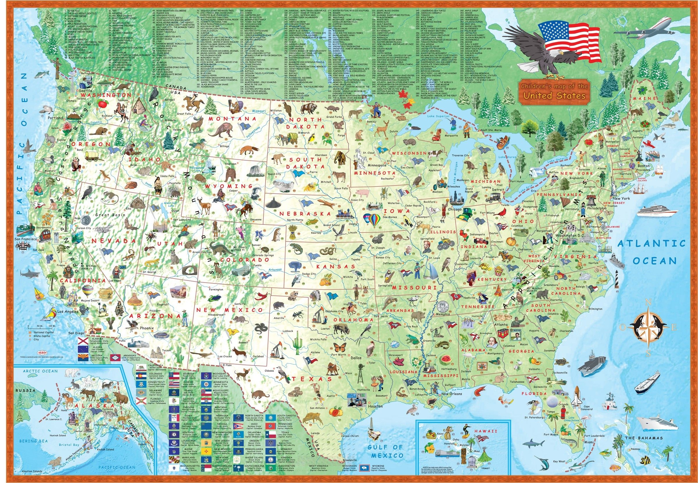 Children\'s Map of the United States | MAPS | Pinterest | Map, United ...
