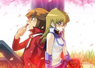 Jaden Yuki And Alexis Rhodes Yugioh Anime Love Yuki