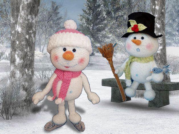 Häkelanleitung,PDF,Frosty Flöckchen, Amigurumi | crochet dolls ...