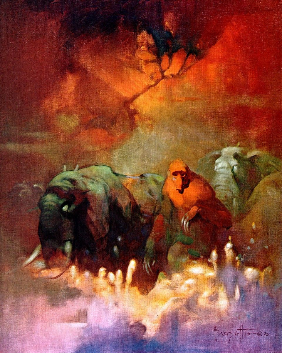 Fantasy Book Cover Art For Sale ~ Downward to the earth frank frazetta artist gallery