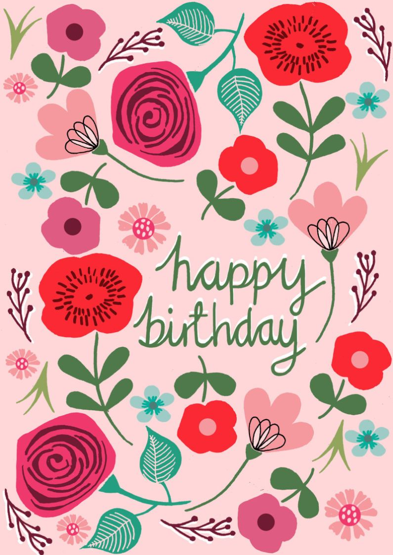 Pink Floral Birthday Licensing Drawn To Better Astound