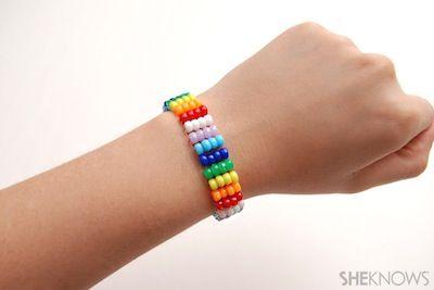 She Know Easy Beaded Friendship Bracelet Diy Tutorial Summer Kids Craft