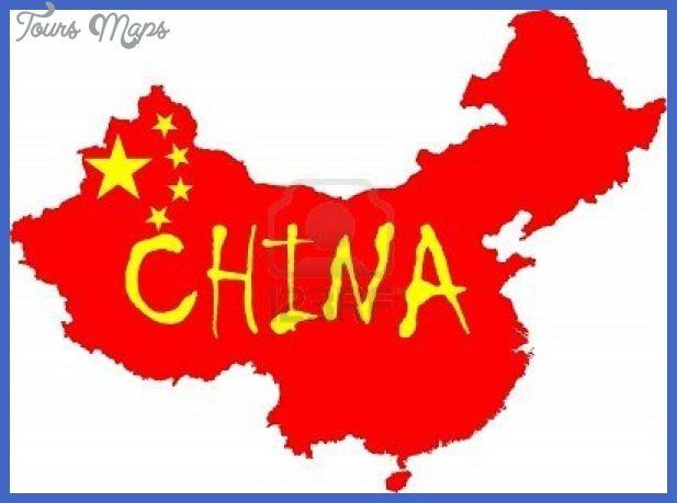 Nice China Map Flag Vlag