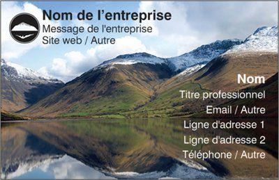 Modles Pour Cartes De Visite Deluxe Avec Montagne