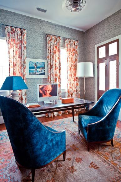 blue orange brown Brown and Blue Pinterest - wohnzimmer orange blau