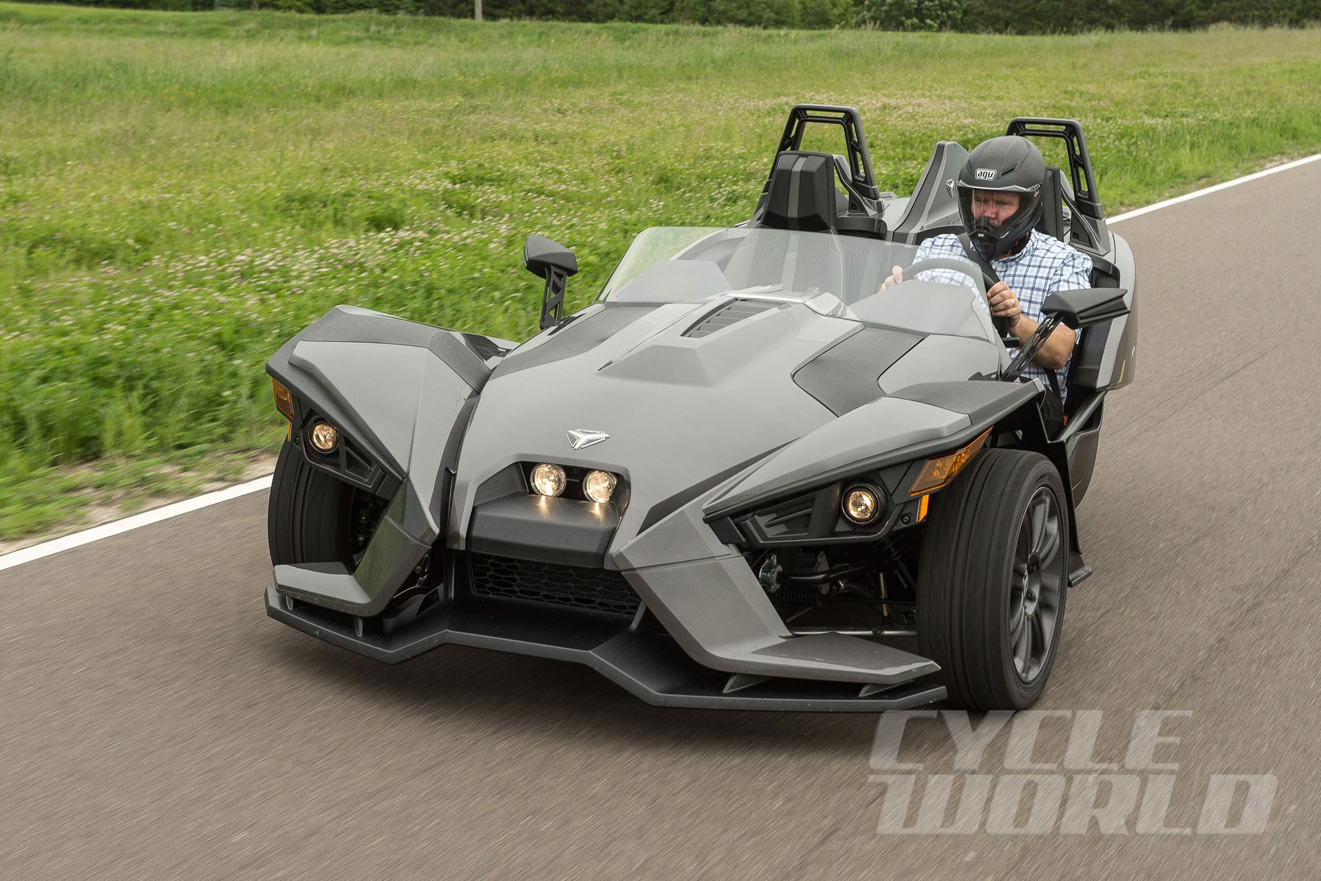 cycle world 2015 polaris slingshot first ride polaris slingshot polaris pinterest. Black Bedroom Furniture Sets. Home Design Ideas