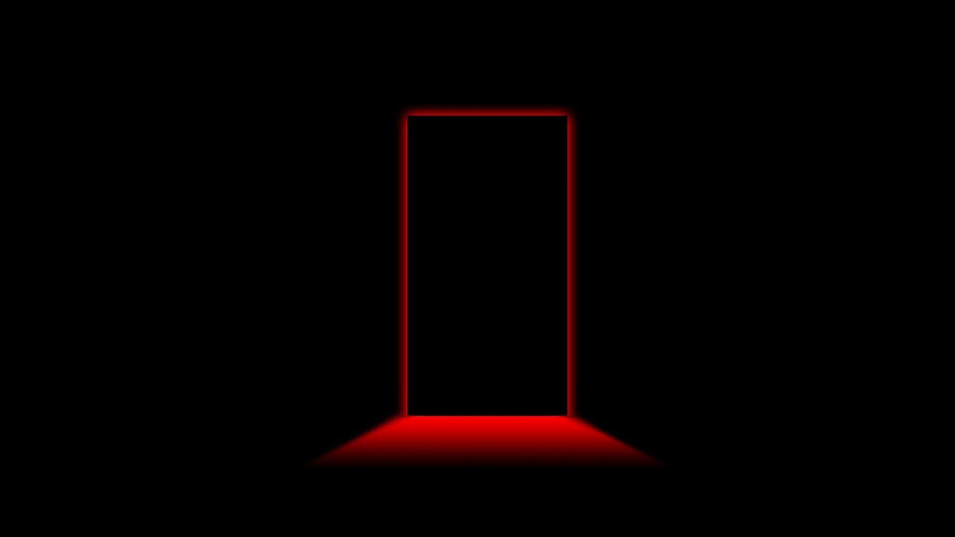 1920x1080 Wallpaper Door Light Shadow Black Red Black Wallpaper Hd Cool Wallpapers Black Hd Wallpaper
