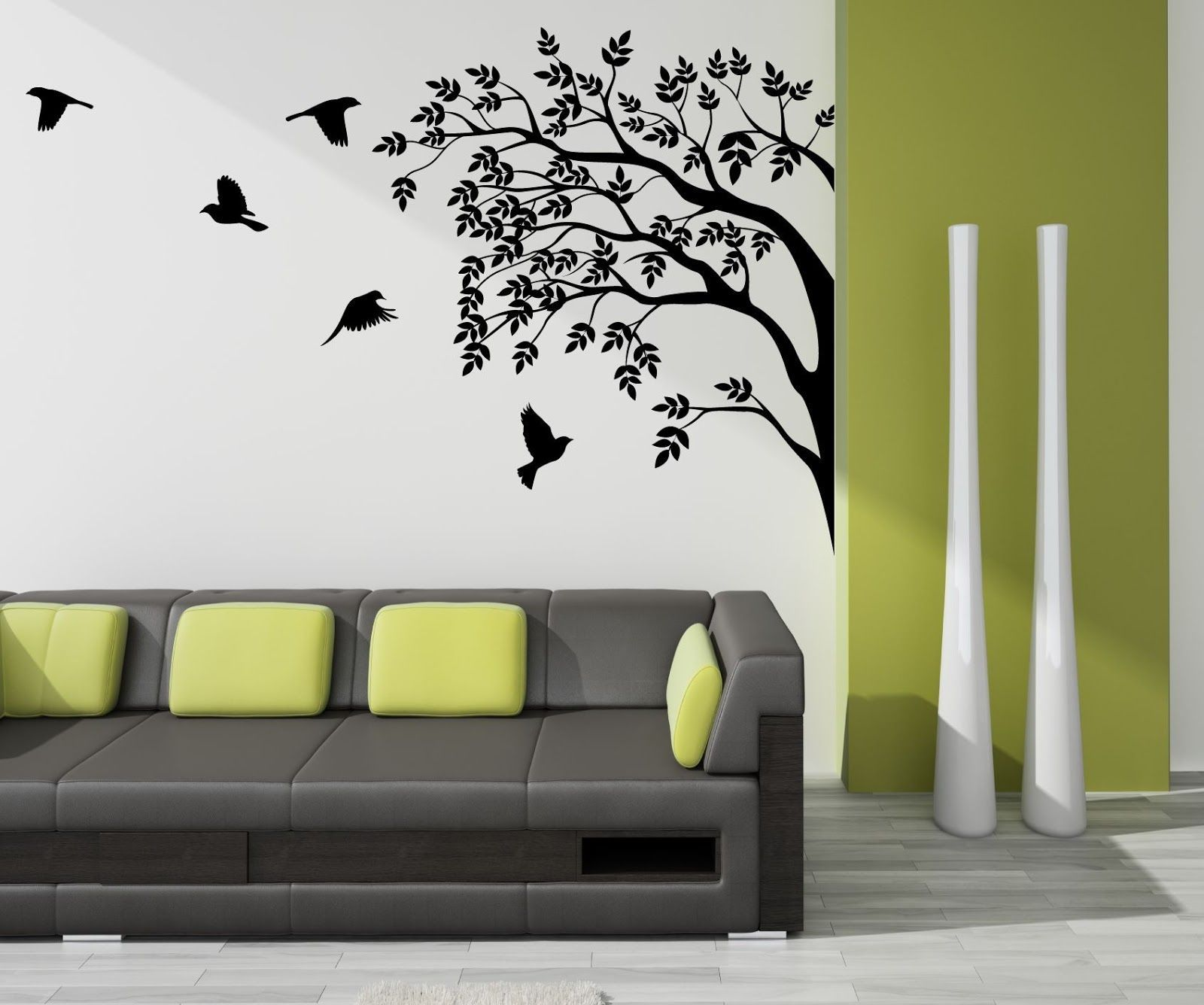 Tree Painted On Wall In Corner - Google Search