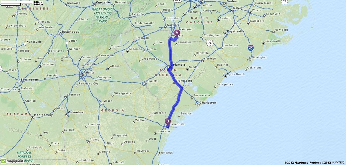 Driving Directions From Waxhaw North Carolina To Savannah - Savannah ga mapquest