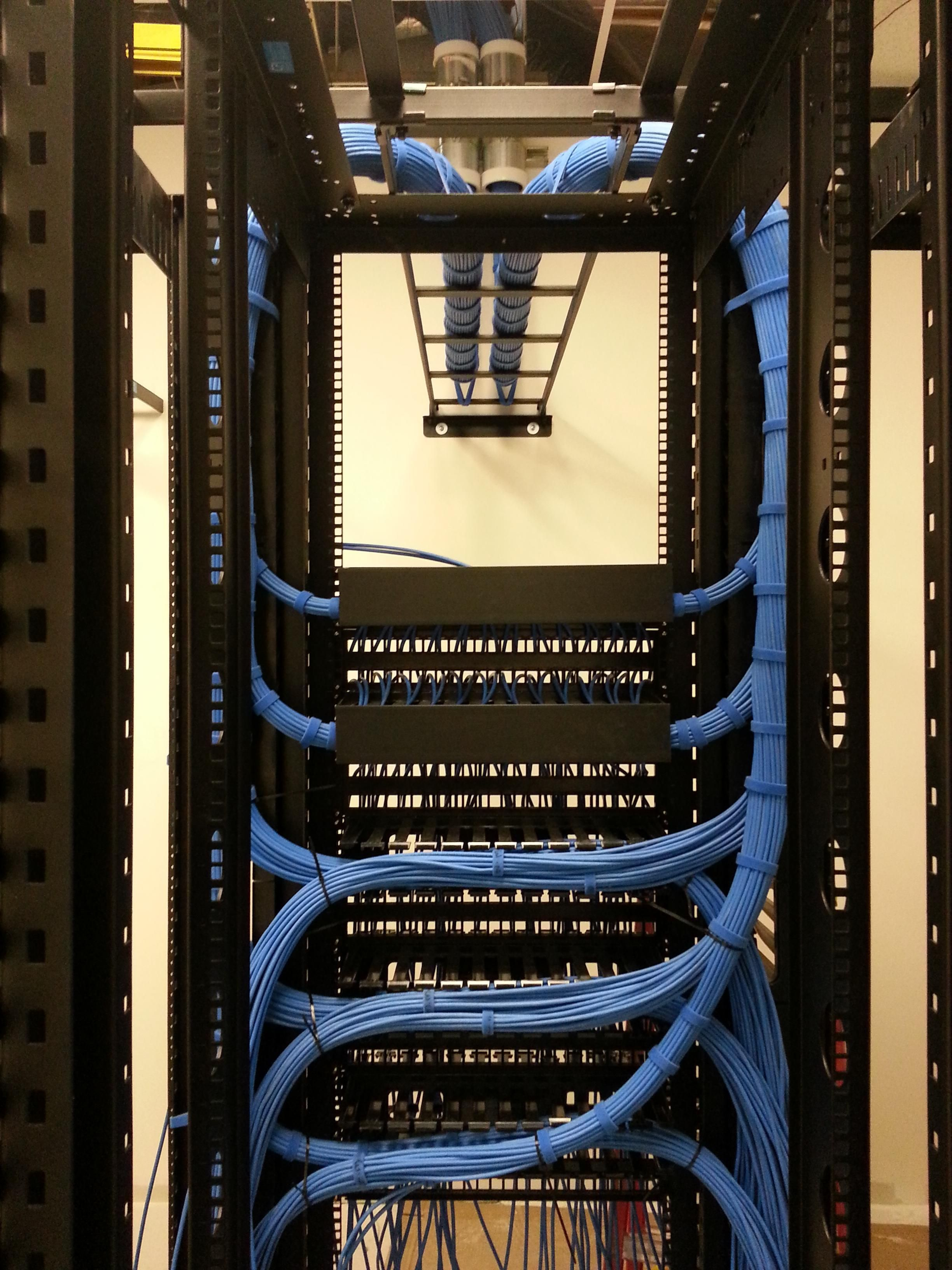 Proud Of This One In 2018 Cable Management Structured Wiring Home Network Great Going Into A Rack Build Process