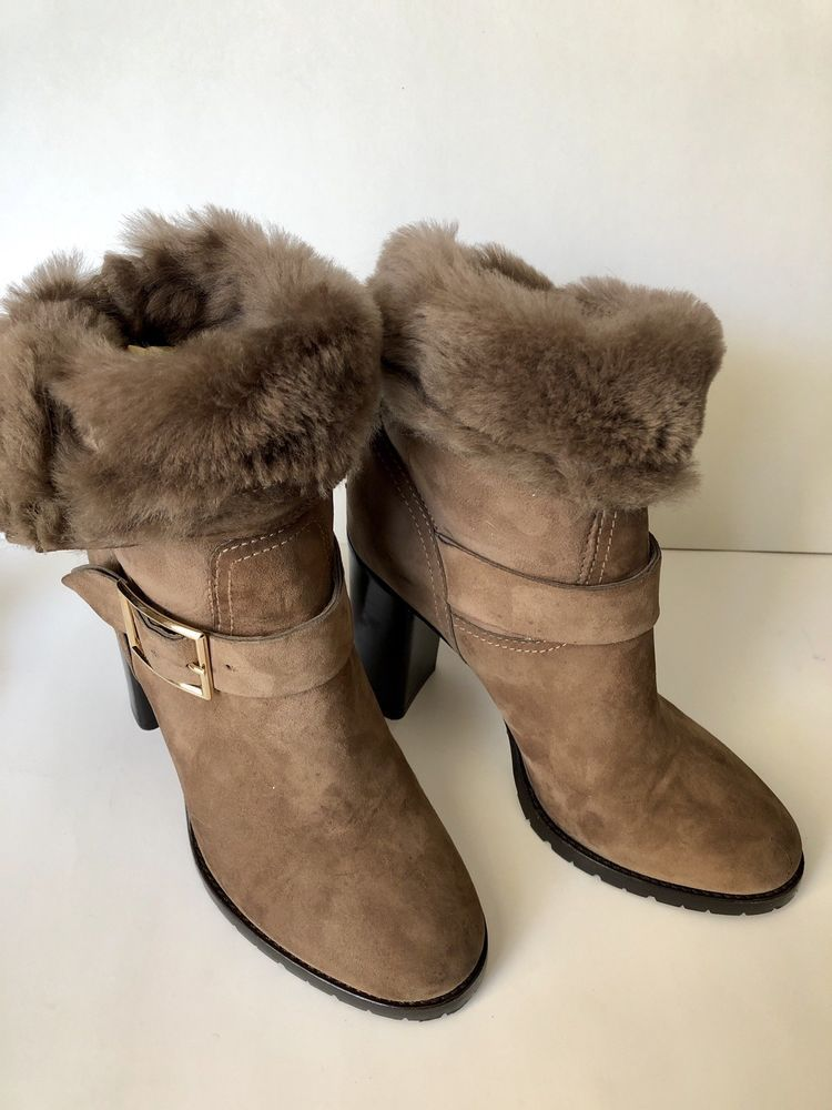 Italian Suede Boots Womens