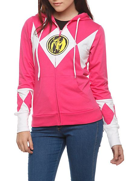 Pink Power Rangers Hoodie Hot Topic Men S Fashion In 2019 Pink