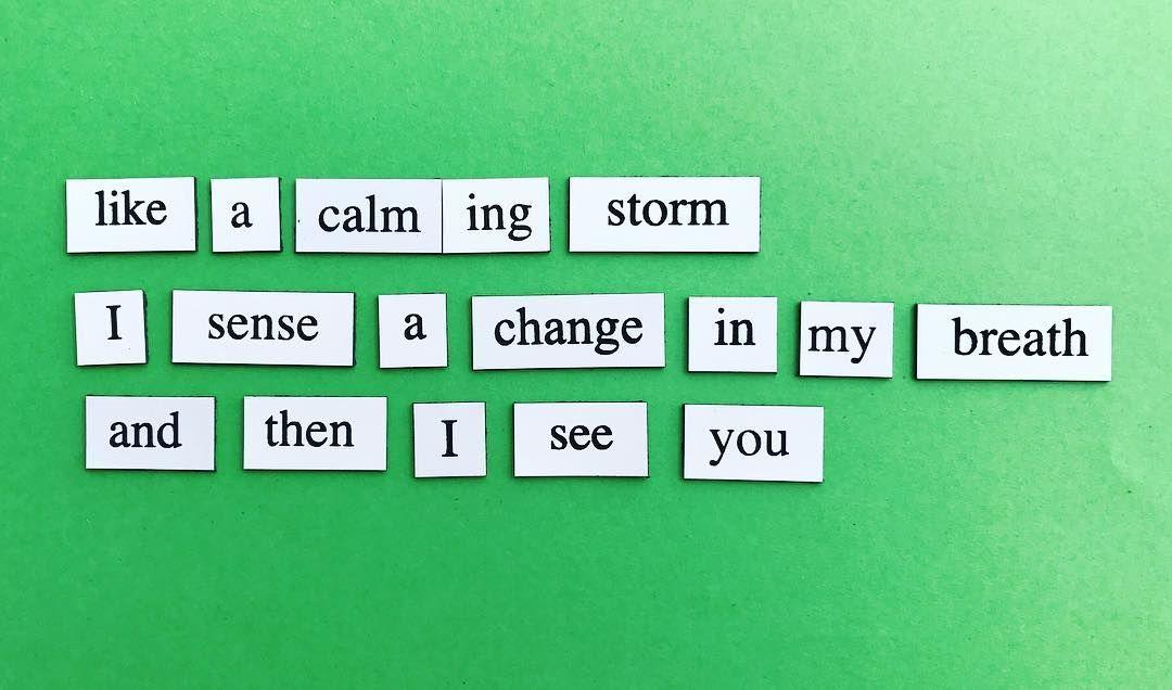 Poem 20 (haiku 1) Like a calming storm I sense
