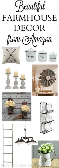 Beautiful Farmhouse Decor on Amazon is part of French decor Farmhouse - Who knew you could find so much gorgeous Farmhouse Decor on Amazon ! If you have an Amazon Prime membership, the shipping benefits are just as amazing