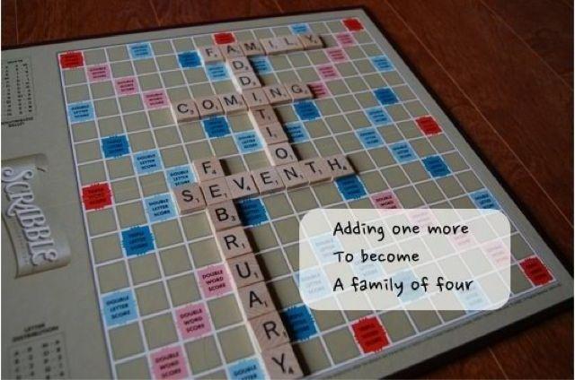 17 Best images about Pregnancy announcements ideas – Scrabble Baby Announcement