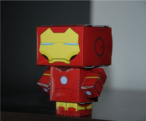 Paper Iron Man Mark III - YouTube | 506x610