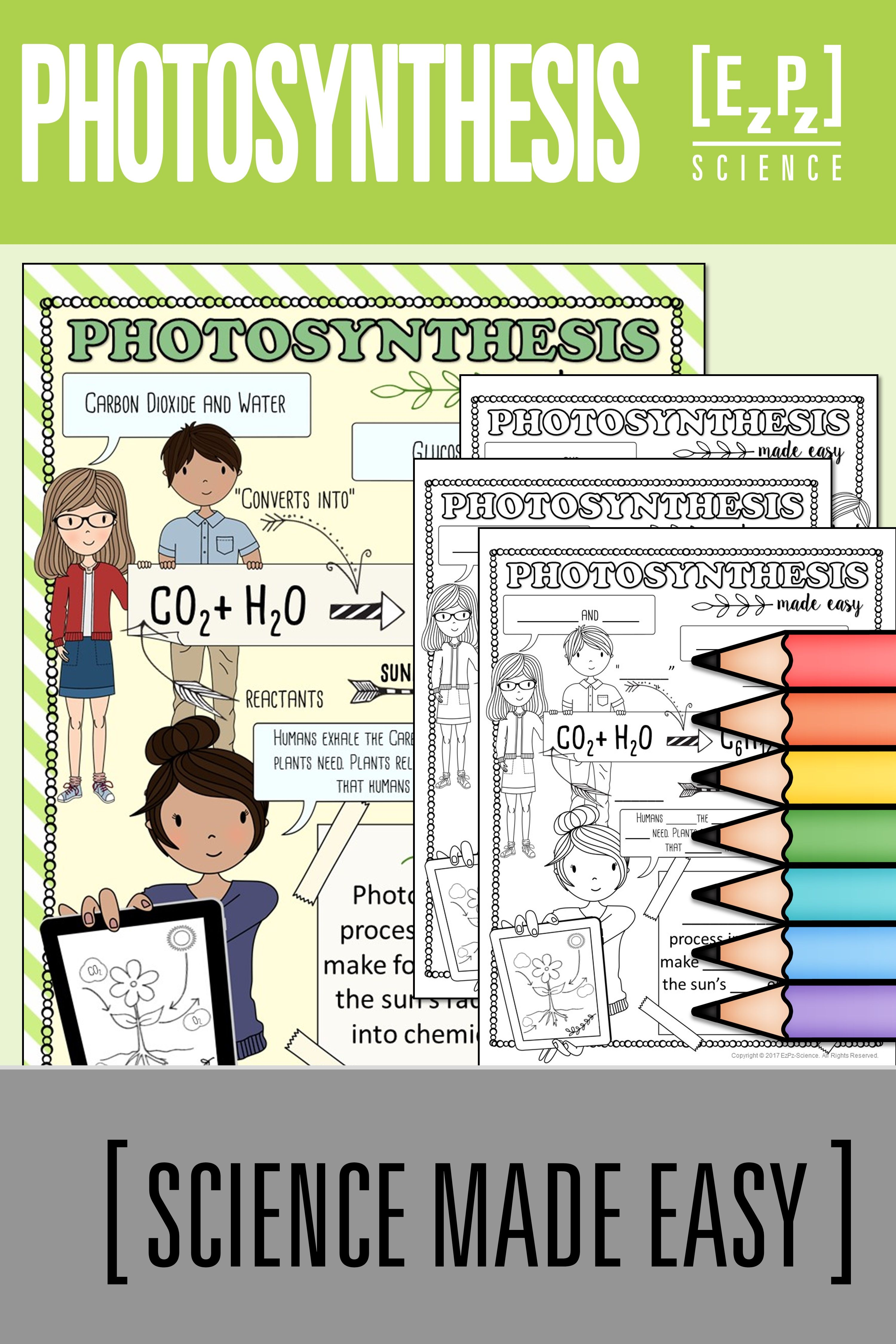 Photosynthesis Made Easy Student Notes And Powerpoint