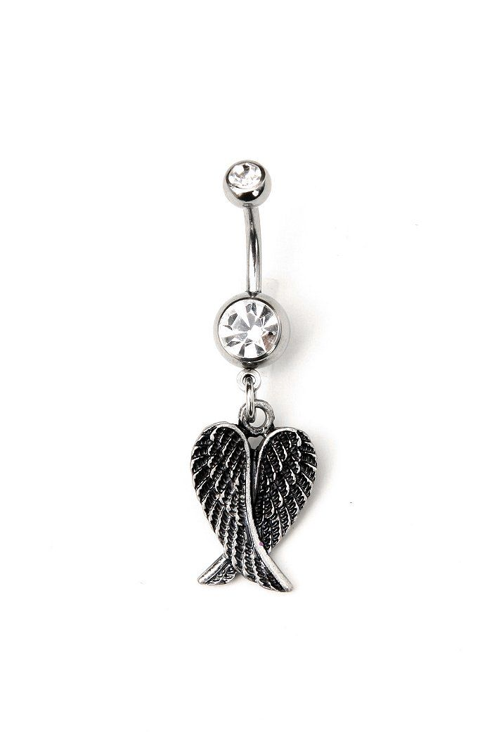 Morbid Metals 14G Tarnished Wings Bellybutton Ring I NEED