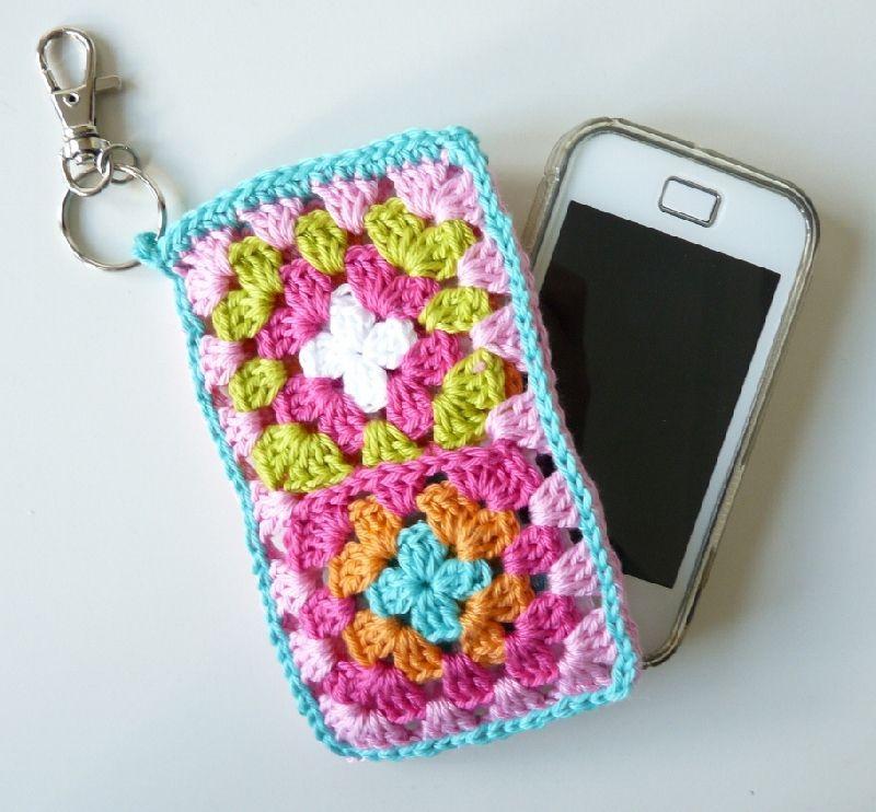Iphonesmartphone Granny Square Case Granny Square Häkeln