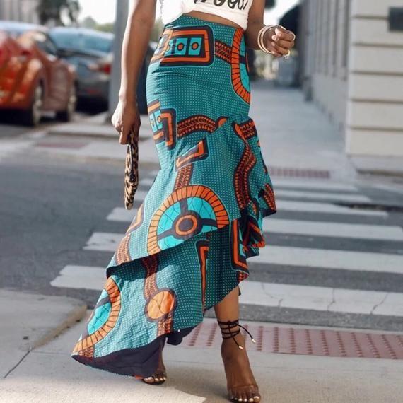 African Print Inspired Skirt