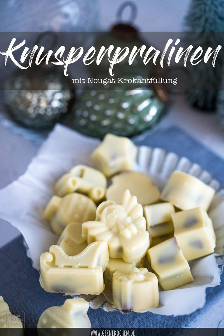 Rezept: Knusperpralinen - weiße Schokolade mit Nougatkrokant - gernekochen.de